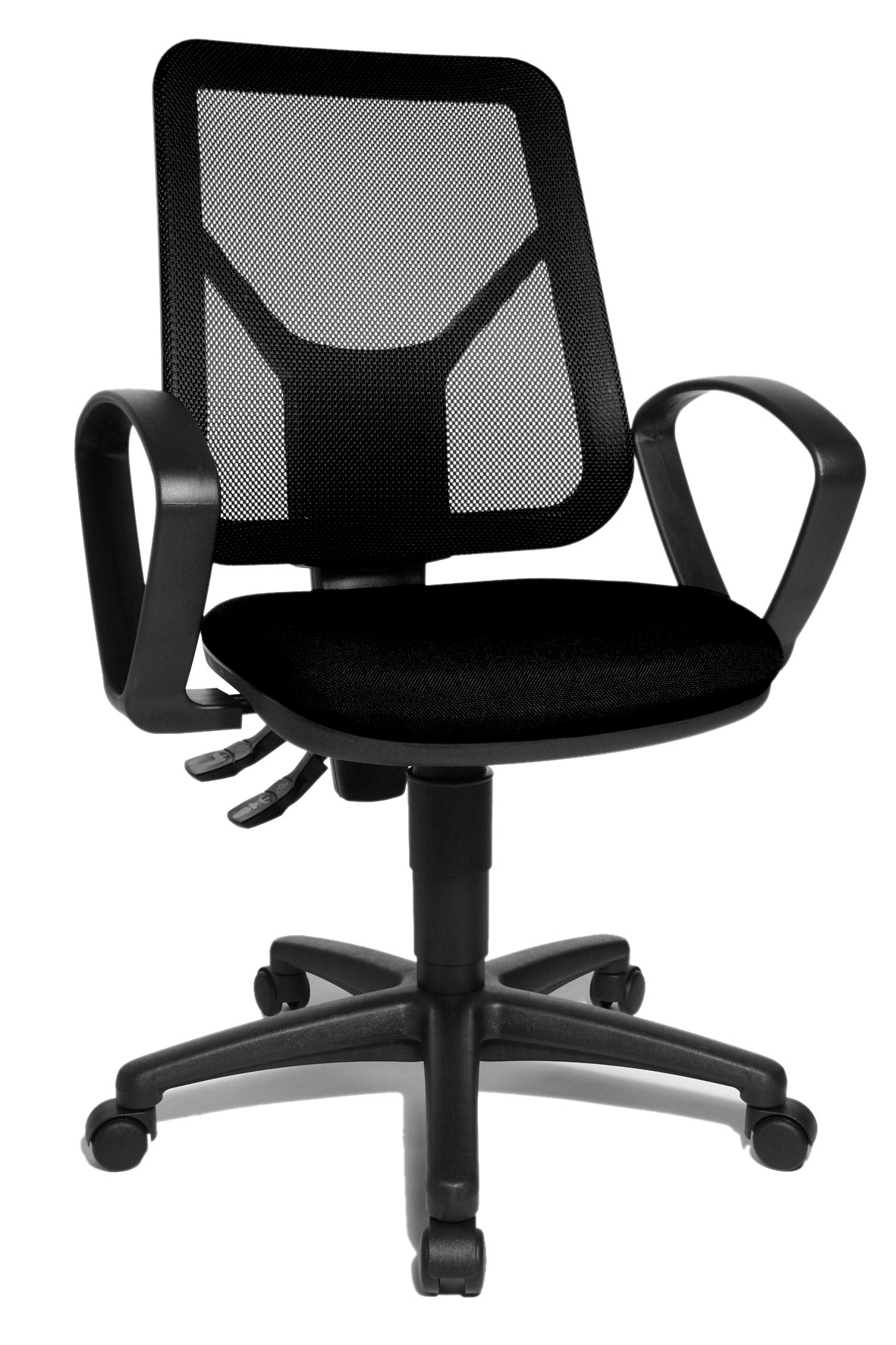 Chaise de bureau contemporaine en tissu noir Zumba