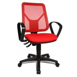 Chaise de bureau contemporaine en tissu rouge Zumba