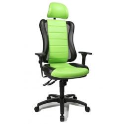Fauteuil de bureau design en PU noir et vert Rumba