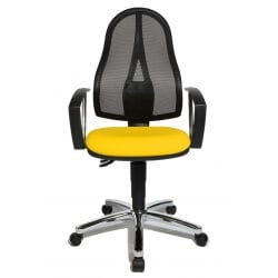 Chaise de bureau contemporaine en tissu jaune Seychelle