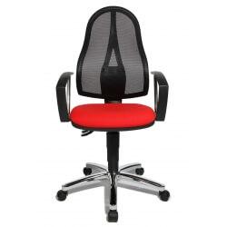Chaise de bureau contemporaine en tissu rouge Seychelle