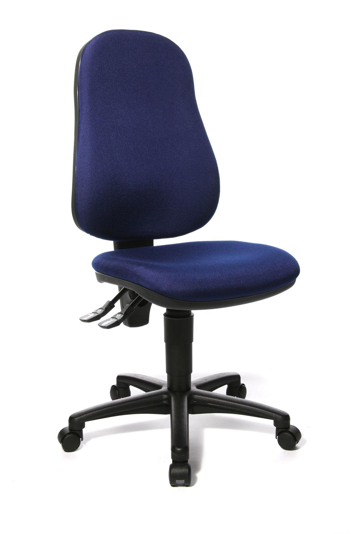 Chaise de bureau contemporaine en tissu bleu Baleares