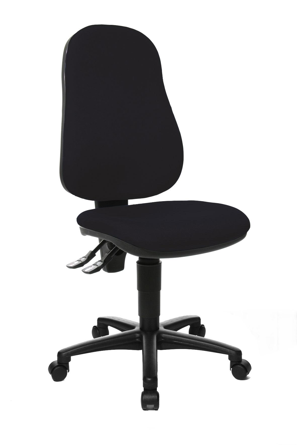 Chaise de bureau contemporaine en tissu noir Baleares