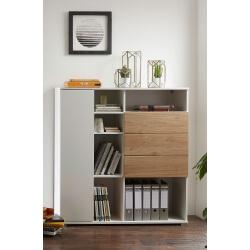 Armoire de bureau contemporaine chêne/blanc Kendal