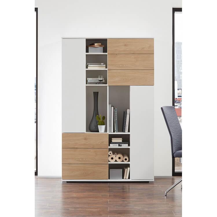 Armoire de bureau contemporaine chêne/blanc Kendal II