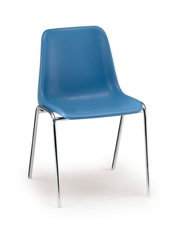 Chaise visisteur classique en PVC bleu Sierra