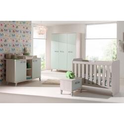Chambre enfant contemporaine frêne/vert Verone