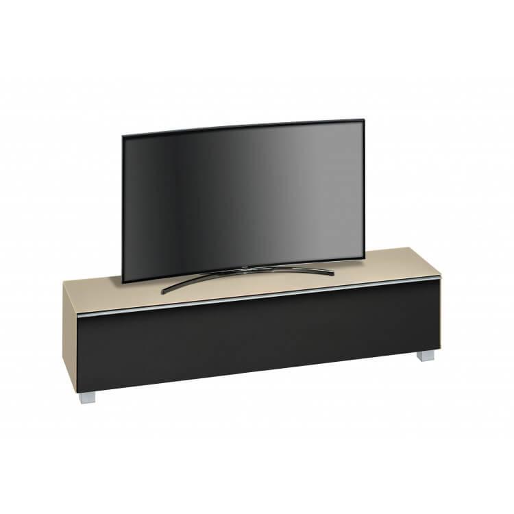 Meuble TV design 180 cm en verre sable mat Futura
