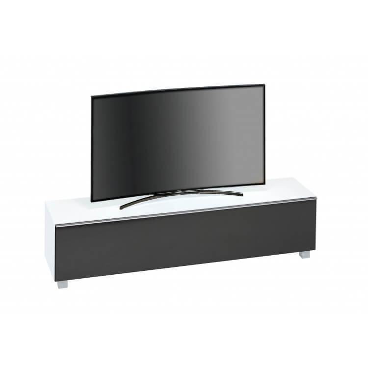 chaussures de séparation b019f 5665d Meuble TV design 180 cm en verre blanc mat Futura