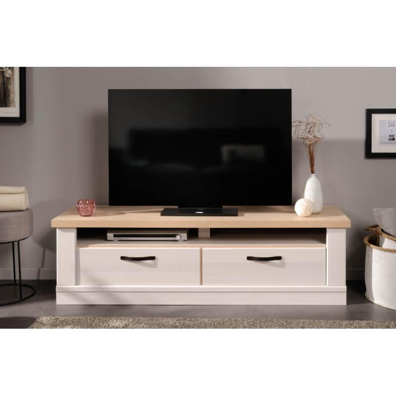 meuble tv contemporain ch ne blond fr ne nordique simon matelpro. Black Bedroom Furniture Sets. Home Design Ideas