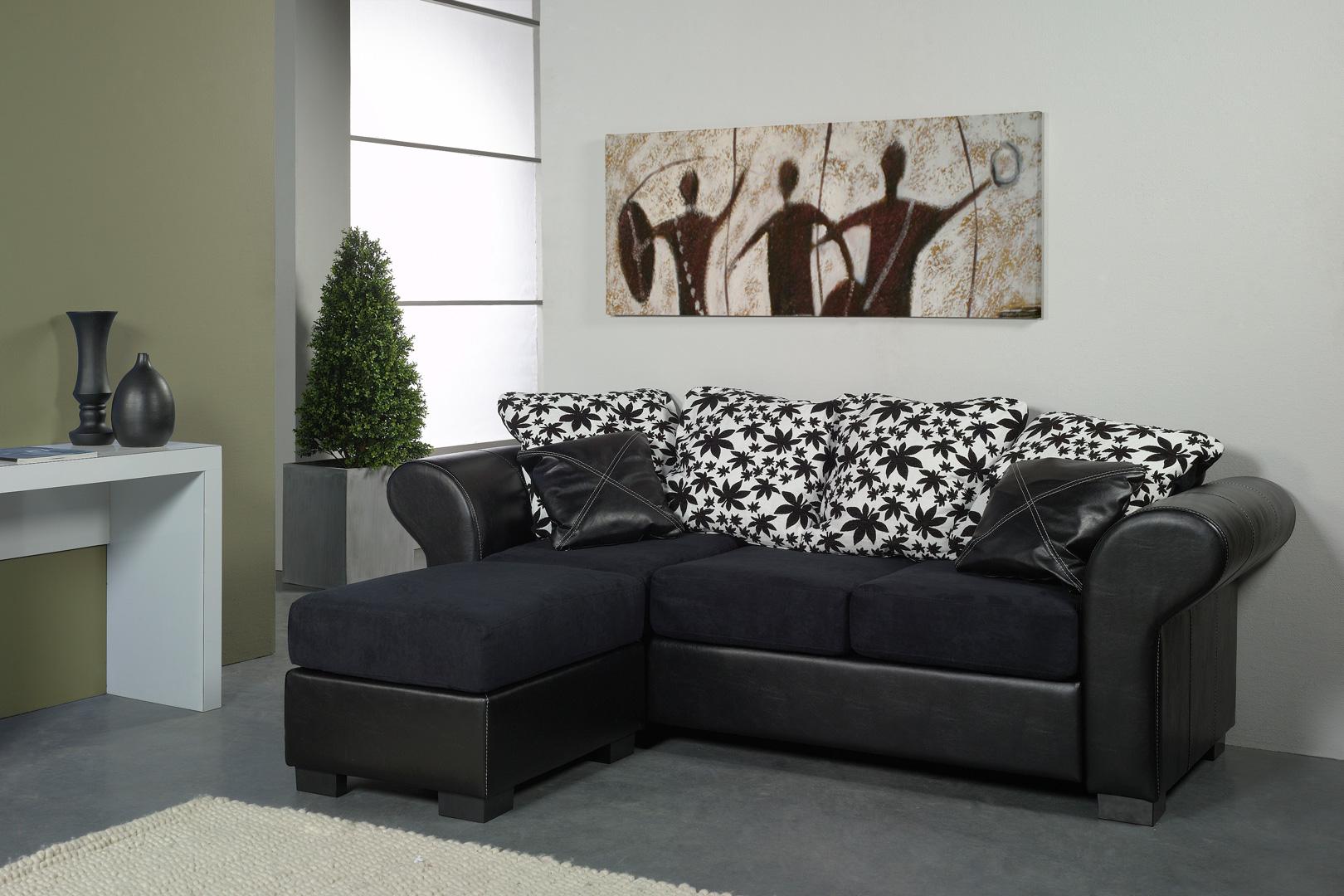 Canapé 3 places avec pouf REGGAE
