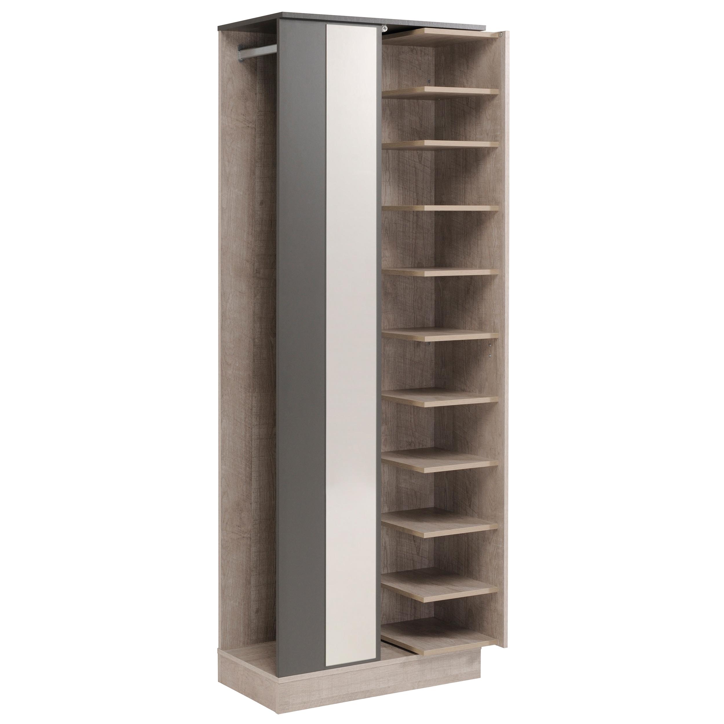 meuble d 39 entr e contemporain gris loft gris ombre heather matelpro. Black Bedroom Furniture Sets. Home Design Ideas