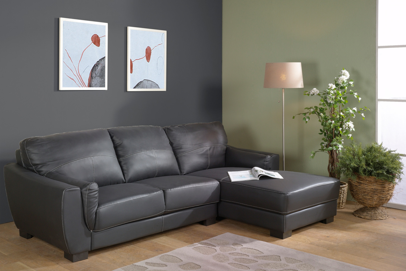 Canapé d'angle ALICIA