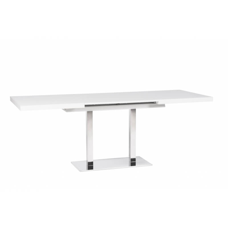 Table de salle manger extensible design blanche calice matelpro - Table blanche design salle manger ...