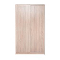 Armoire contemporaine portes coulissantes 109 cm chêne clair Niels