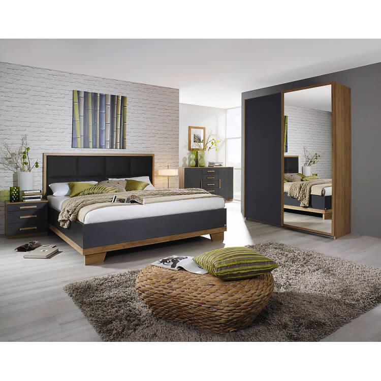 chevet contemporain 3 tiroirs ch ne anthracite ursula matelpro. Black Bedroom Furniture Sets. Home Design Ideas