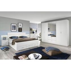 Chambre adulte contemporaine blanche Hamar