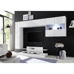 Ensemble TV mural design blanc laqué Camargue
