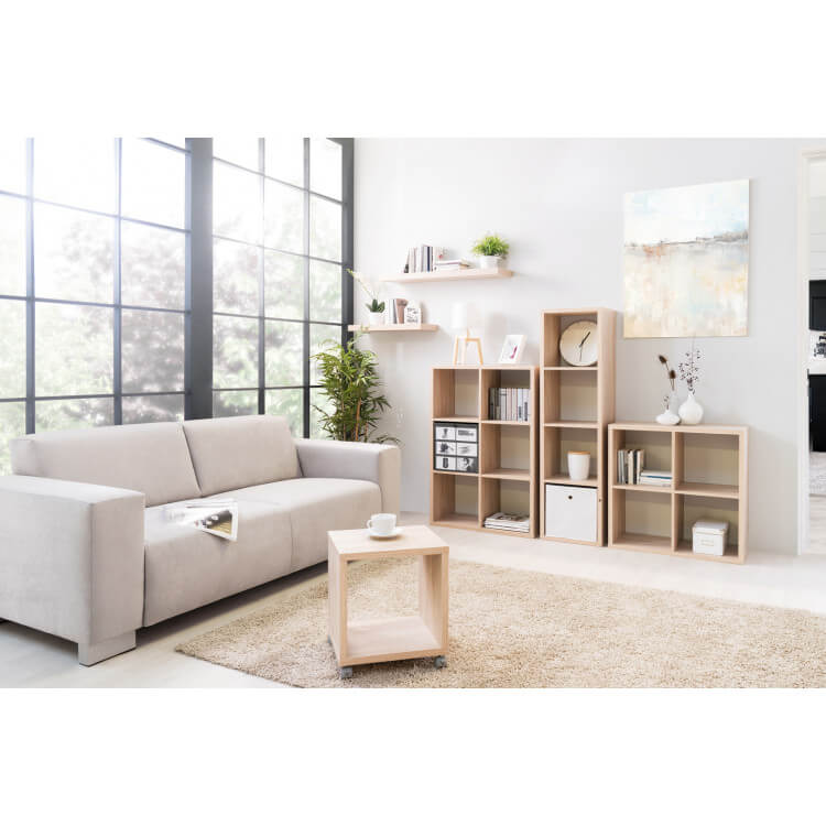 etag re contemporaine carr e 4 compartiments ch ne clair gabrielle matelpro. Black Bedroom Furniture Sets. Home Design Ideas