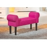Banquette contemporaine en tissu fuschia Sunset
