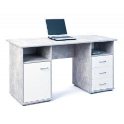 Bureau contemporain blanc/gris béton Colibri