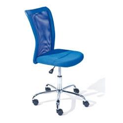 Chaise de bureau design en tissu bleu Sylvie