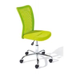 Chaise de bureau design en tissu vert Sylvie