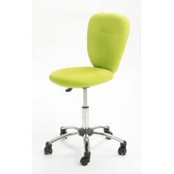 Chaise de bureau design en tissu vert Magali