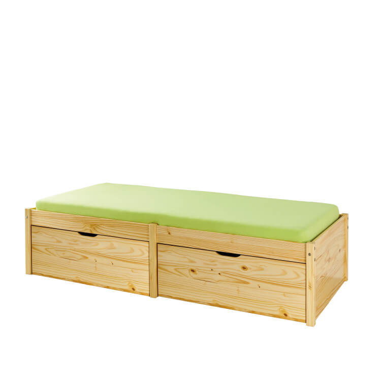 Lit enfant contemporain pin massif naturel Lauriane