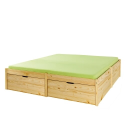 Lit adulte contemporain pin massif naturel Lauriane