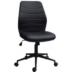 Chaise de bureau design en PU noir Gina