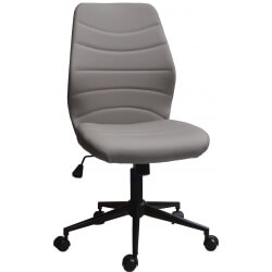 Chaise de bureau design en PU gris Gina