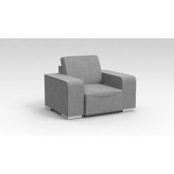 Fauteuil design 1 place en tissu gris clair Sofiane