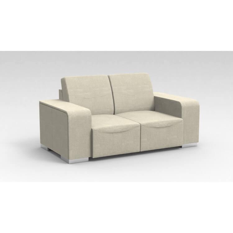 Canapé design 2 places en tissu beige Sofiane