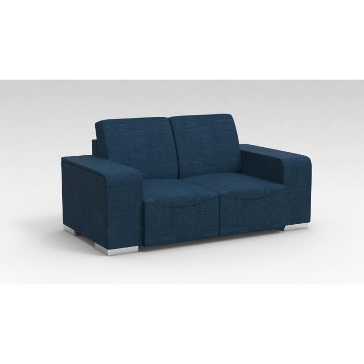 Canapé design 2 places en tissu bleu Sofiane
