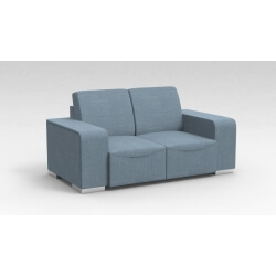 Canapé design 2 places en tissu bleu clair Sofiane