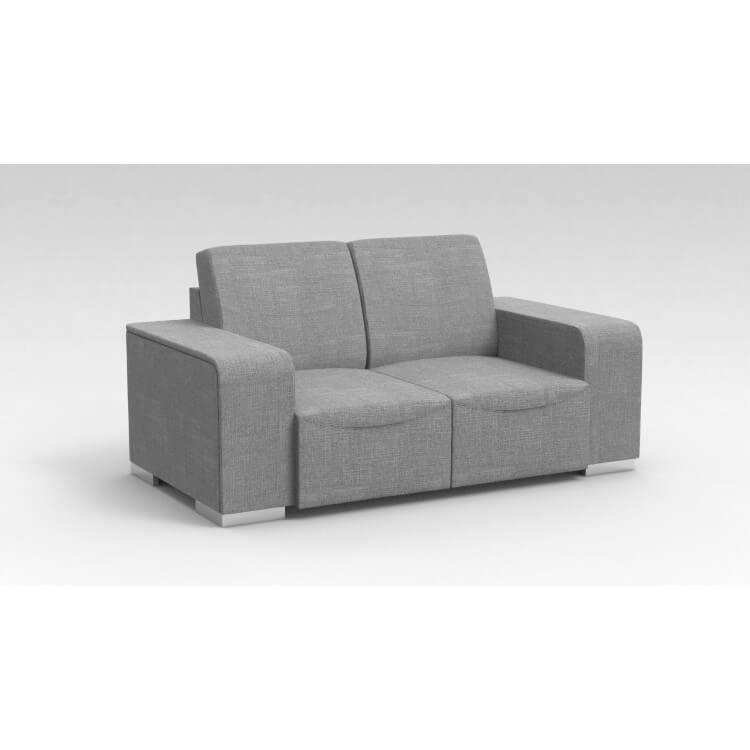 Canapé design 2 places en tissu gris clair Sofiane