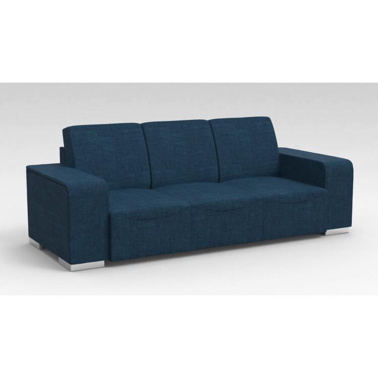 Canapé design 3 places en tissu bleu Sofiane