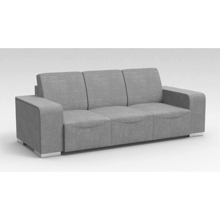 Canapé design 3 places en tissu gris clair Sofiane