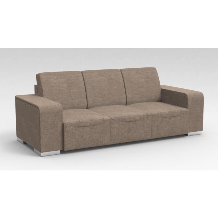 Canapé design 3 places en tissu marron clair Sofiane