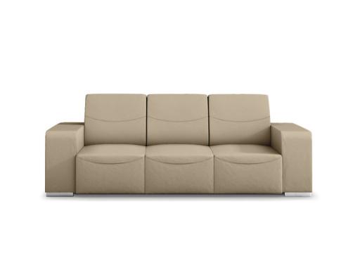 Canapé design 3 places en cuir taupe Sofiane