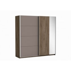 Armoire adulte contemporaine noyer/lave Atila