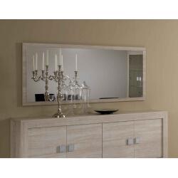 Miroir de salle à manger chêne blanchi Clea