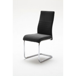 Chaise de salle à manger design en tissu (lot de 2) Janisse