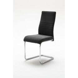 Chaise de salle à manger design en tissu noir (lot de 2) Janisse