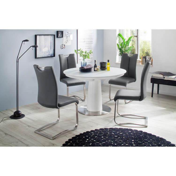 Extensible Laquée Davidson Ronde Mat Design Blanc Table BoWdeEQrCx
