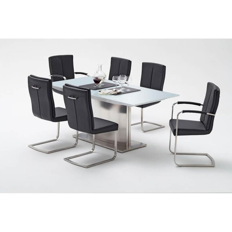 Table De Salle A Manger Design Extensible Laquee Blanche Ykonos