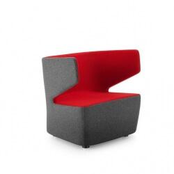 Fauteuil design 1 place en tissu anthracite/rouge Jordana