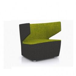 Fauteuil design 1 place en tissu anthracite/vert Jordana
