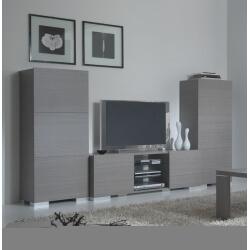 Ensemble Meuble TV pour écran plasma & 2 colonnes FLORA